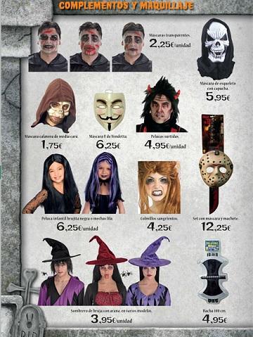 Catalogo El Corte Inglés Halloween 2012 máscaras