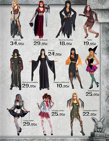 Catalogo El Corte Inglés Halloween 2012 mujer
