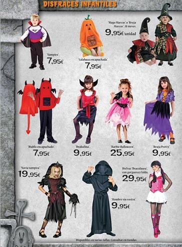 Catalogo El Corte Inglés Halloween 2012 niños