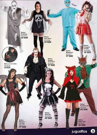 catálogo juguettos halloween 2012 muertos