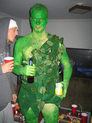 disfraces caseros halloween gigante verde