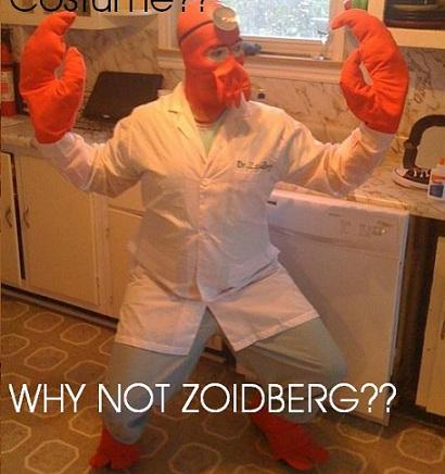 Disfraces caseros de Halloween zoidberg