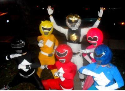disfraces halloween caseros grupo power rangers