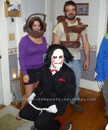 disfraces halloween caseros grupo saw
