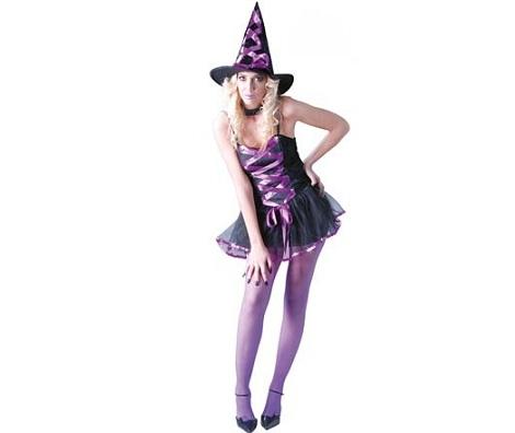 disfrazas de Halloween para chica bruja