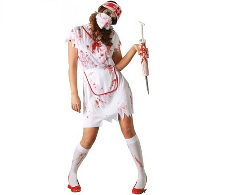 disfraces halloween chica enfermera zombie