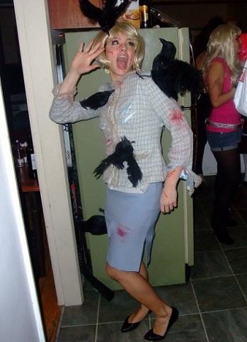 disfraces halloween faciles mujer los pajaros