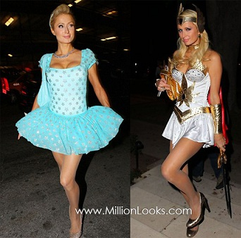 disfraces halloween famosos paris hiltos