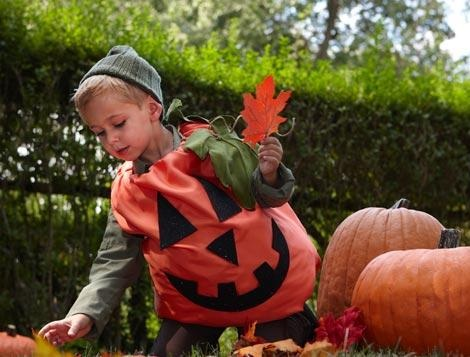 disfraces halloween niños calabaza naranja