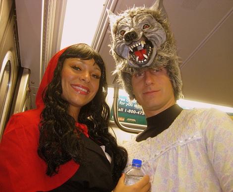 disfraces halloween parejas caperucita lobo