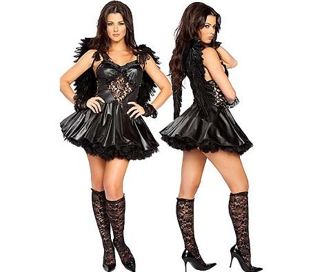 disfraces Halloween sexys mujer angel caído