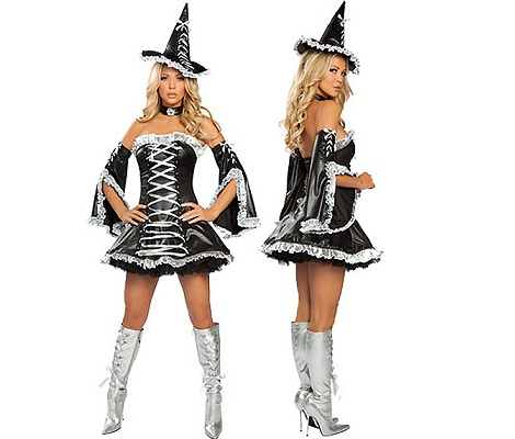 disfraces Halloween sexys mujer bruja negra