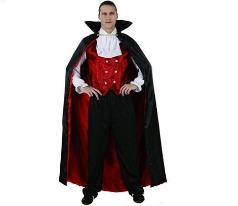 disfraz dracula rojo