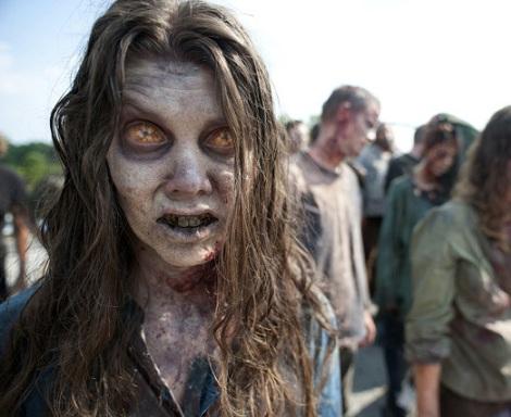 disfraz zombie dientes