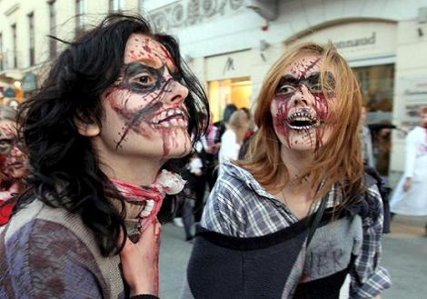 maquillaje disfraces ombies