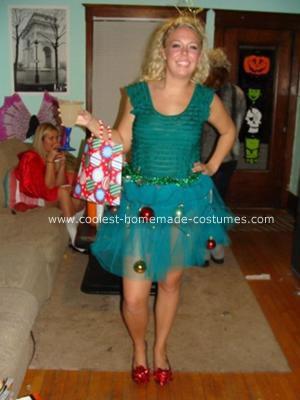 disfraces caseros navidad árbol