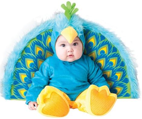 disfraces para bebes pavo real