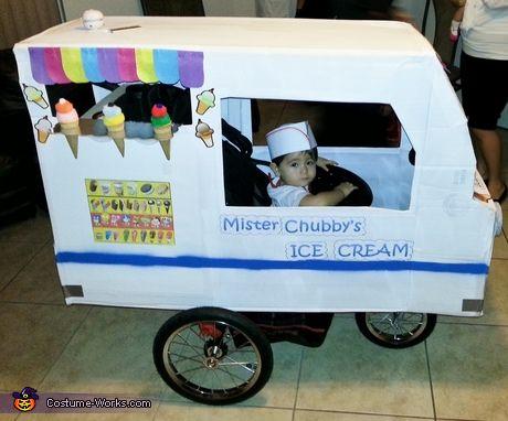 disfraz bebé casero camión helados