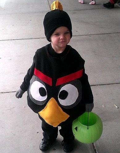 disfraz bebé casero angry birds