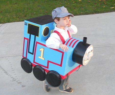 disfraz bebé casero tren