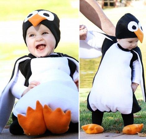 disfraz de pingüino casero para bebé