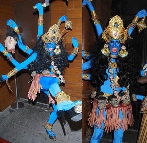 disfraz casero de diosa hindú