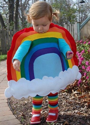 disfraz casero de arcoiris