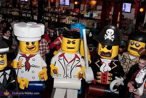 Disfraz de grupo Lego