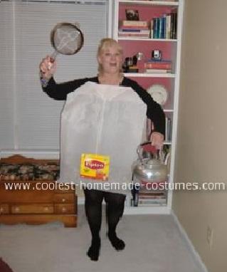 como hacer un disfraz de bolsa de té casero