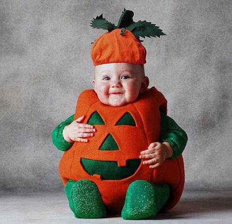 disfraz de calabaza casero para bebé