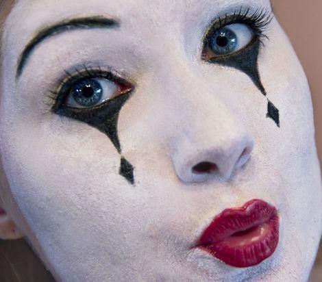 maquillaje casero de mimo