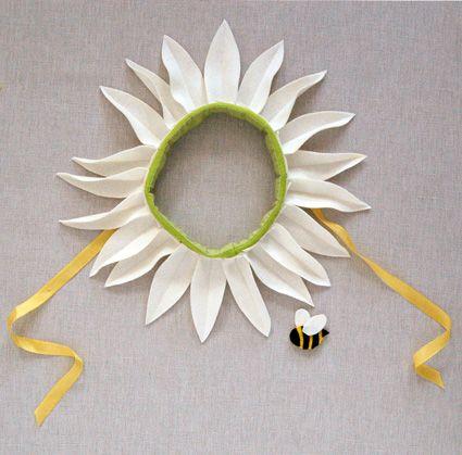 disfraz de flor casero