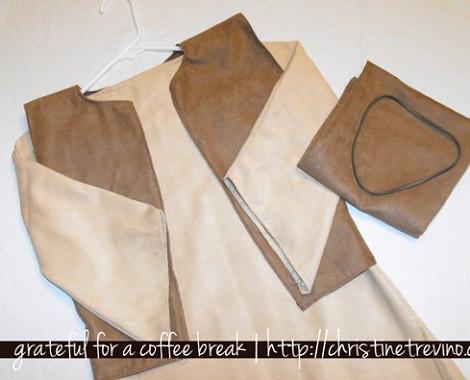 cortar disfraz de san josé casero para navidad