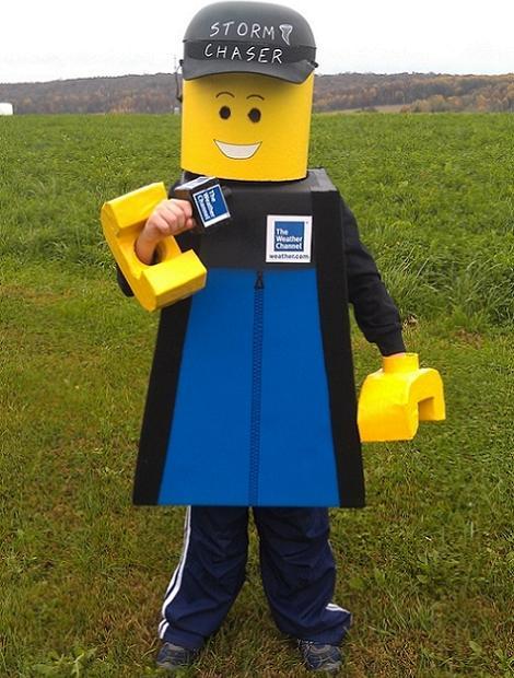 Disfraz de Lego hombre del tiempo