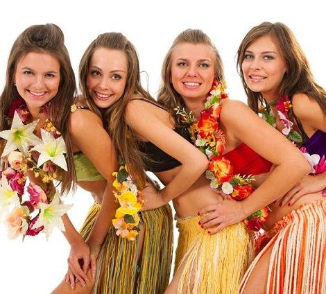 disfraces caseros para despedidas de soltera hawaiana
