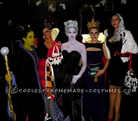 Disfraces caseros originales para grupos para Carnavales 2014 brujas disney