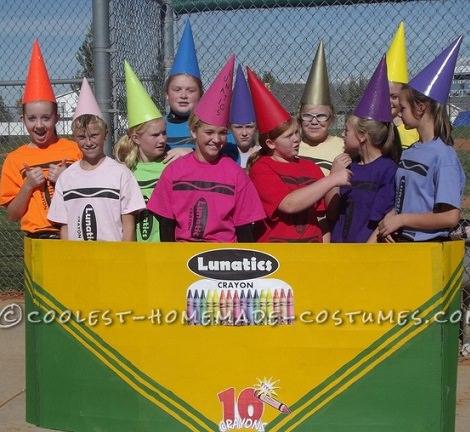 Disfraces caseros originales para grupos para Carnavales 2014 crayola