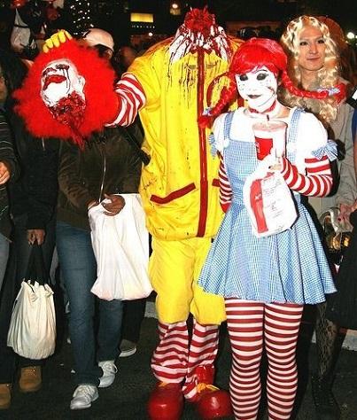 disfraz de payaso de mc donalds halloween 2013