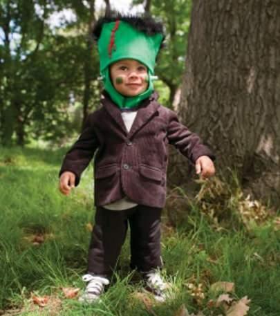 disfraz reciclado de frankenstein para halloween