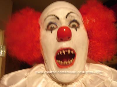 maquillaje de payaso de miedo
