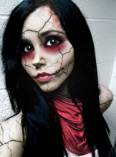 maquillaje de halloween de diabolica