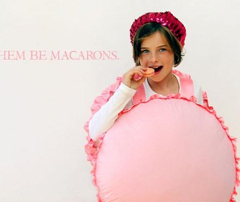 Disfraz de macaron para niña casero