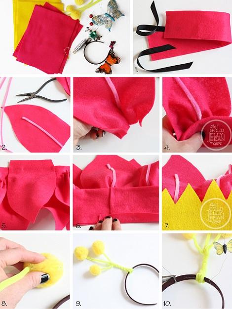 cómo hacer un disfraz de flor para niños