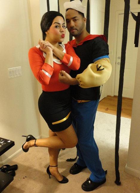 Disfraces de Popeye y Olivia