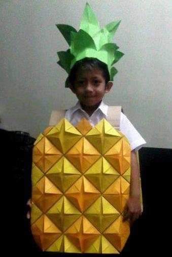 disfraz de fruta casero piña