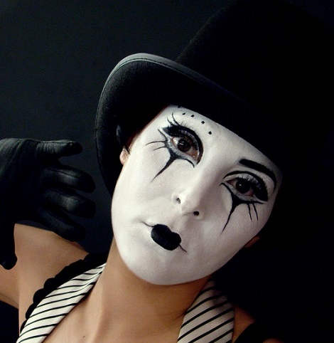 maquillaje de mimo casero