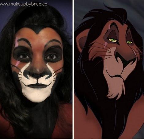 maquillaje de el rey león