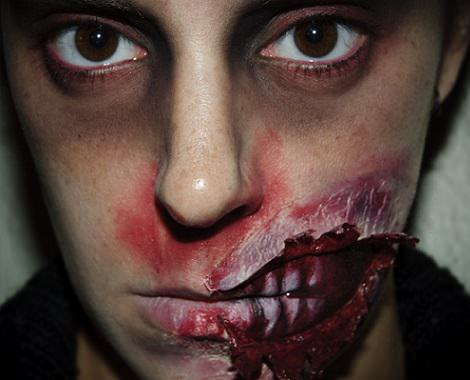 maquillaje de zombie casero con efectos especiales