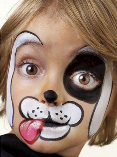 pintacaras fáciles para niños perro
