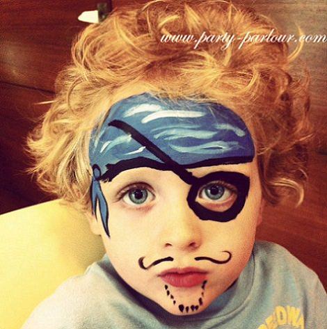 pintacaras fáciles para niños pirata